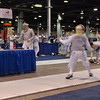 Bettie Graham (left) in the Vet 60+ Women's Foil.