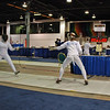 Nina Moiseiwitsch fences another lefty in the Division III Women's Epee.