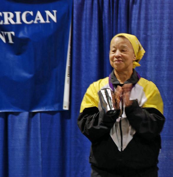 Bettie Graham, 6th place, Veteran 60+ Women's Epee.