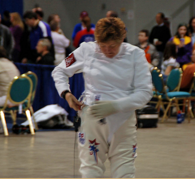 Mary Annavedder in the Veteran 60+ Women's Epee.