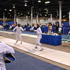 Ella Barnes, right, in the Division III Women's Epee.