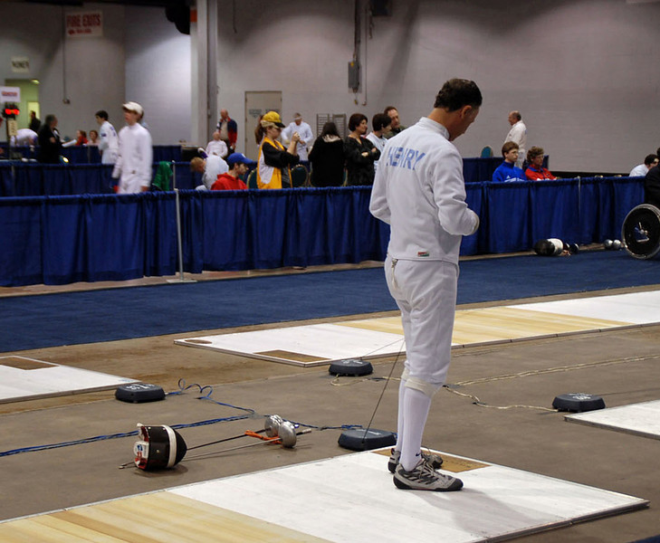 Mark Henry in the Division III Men's Epee.