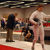 Katharine Holmes prepares to fence in the gold medal bout against Nik Nik Ameli in the Youth-14 Women's Epee.