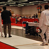 Seth Flanagan in the Youth-12 Men's Epee direct elimination.