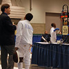 Seth Flanagan in the Youth-12 Men's Epee.