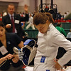 Katharine Holmes in the Youth-14 Women's Epee.