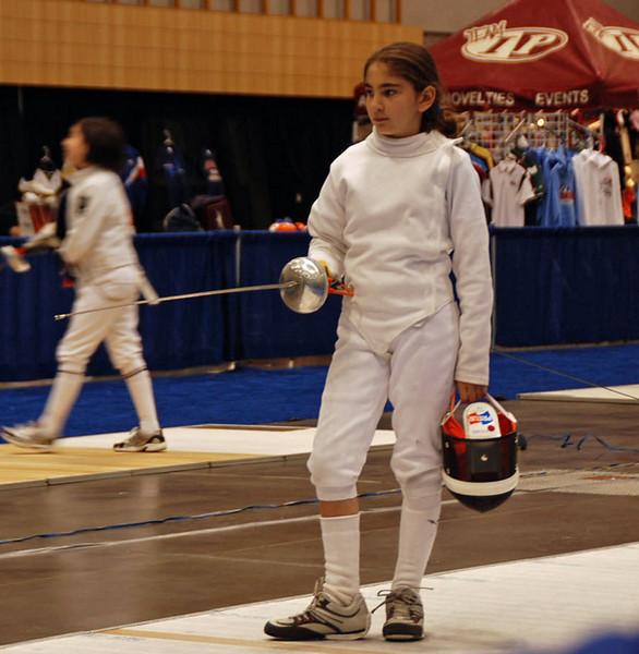 Elizabeth Wiggins in the Youth-10 Women's Epee.