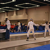 Annie Stephenson fences in the Division I Women's Epee.
