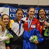 Fencing friends and medalists Renee Bichette, Katharine Holmes, Oksana Samorodov, and Nik Nik Ameli.