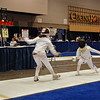Elizabeth Wiggins (left) in the Youth-10 Women's Epee.