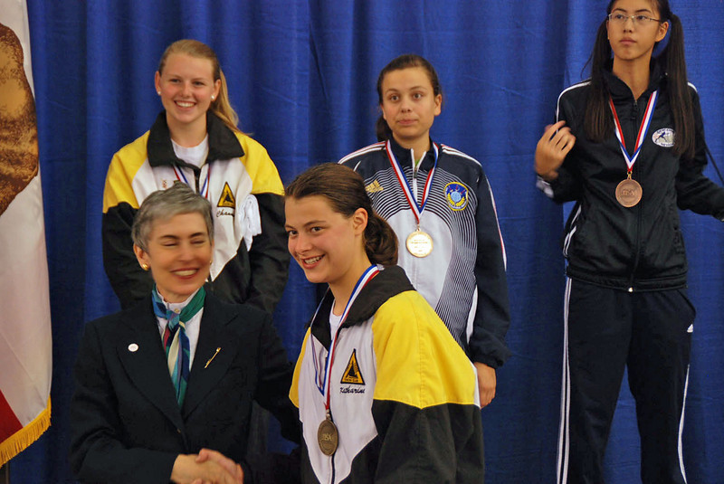 Katharine Holmes, first place, Youth-14 Women's Epee.