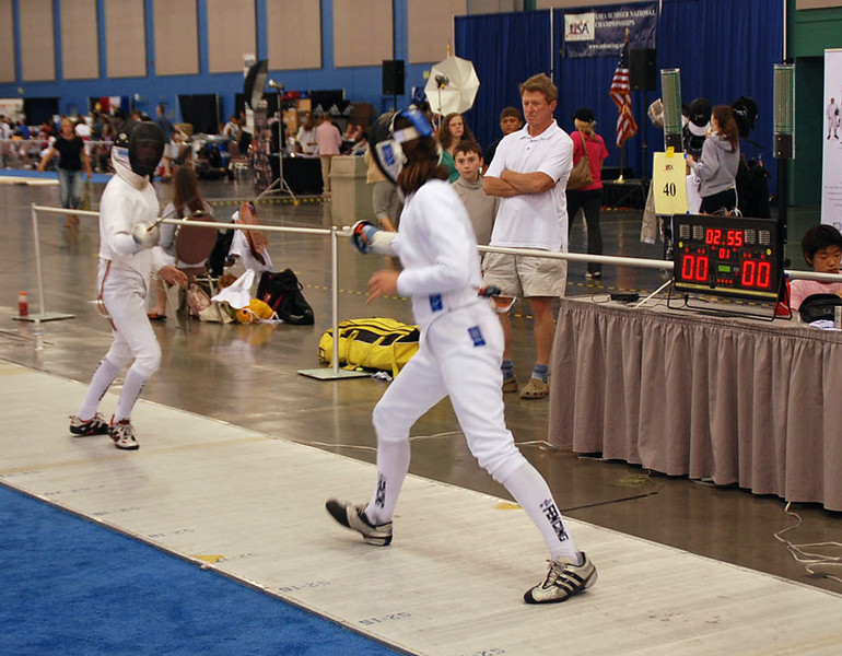 Katharine Holmes in the Youth-14 Women's Epee Final.