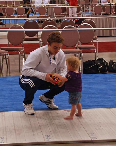 James Kaull with one of his kids.