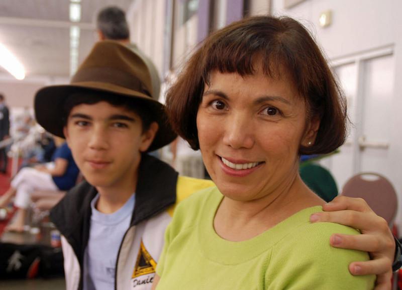 Daniel Wiggins and his mom, Rebecca.
