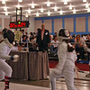 Elizabeth Wiggins scores in the Youth-10 Women's Epee.