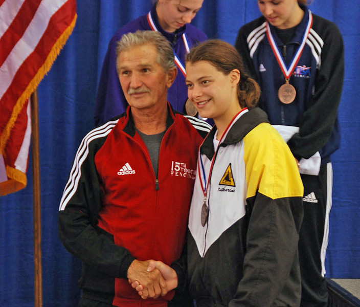 Katharine Holmes, 3rd place, Junior Women's Epee.