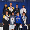 The Youth-14 Women's Epee Finalists.