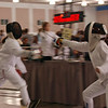 Elizabeth Wiggins, right, in the Youth-10 Women's Epee.