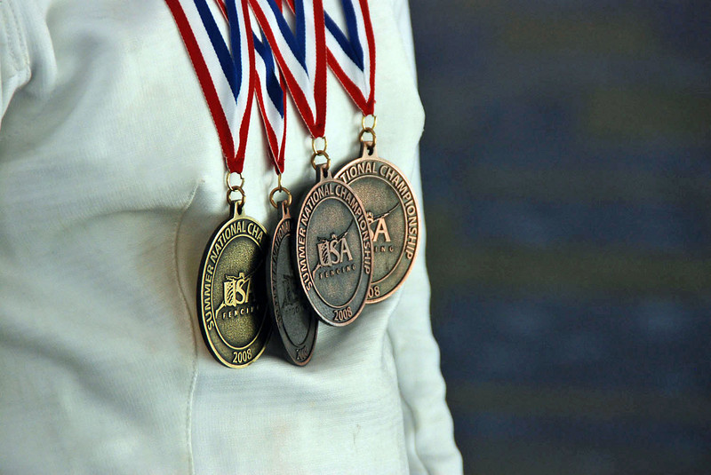 Katharine Holmes, four medals at the 2007-2008 Summer National Championships.