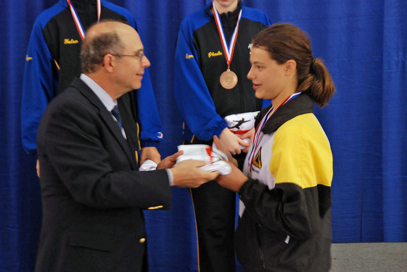 Katharine Holmes, 3rd place in Division IA Women's Epee.
