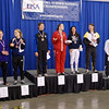 The finalists in Junior Women's Epee: Susannah Scanlan (7th), Neely Brandfield-Harvey (5th), Isabella Barna (3rd), Courtney Hurley (1st), Francesca Bassa (2nd), Katharine Holmes (3rd), Sarah Collins (6th), Lydia Kopecky (8th).