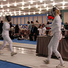 Channing Foster, right, in the Junior Women's Epee.