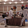 Ben Cohen, right, in the Division IA Men's Epee.