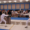 Daniel Wiggins, left, in the Youth-14 Men's Epee.