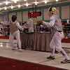 Bettie Graham (right) in the Veteran-60 Women's Foil.