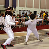Nina Moiseiwitsch, left, in the Division II Women's Epee.