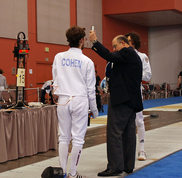 Ben Cohen in the Division IA Men's Epee.