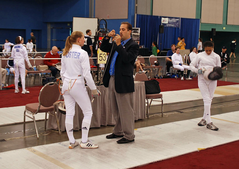 Channing Foster in the Youth-14 Women's Epee.