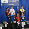 The finalists in Division IA Women's Epee.  Top row: Natalie Vie (3rd), Christine Dominick (1st), Emily D'Agostino (2nd), Katharine Holmes (3rd). Bottom row: Helen Joley (7th), Phoebe Caldwell (5th), , Amy Orlando (6th), Alexandra Mummery (8th).