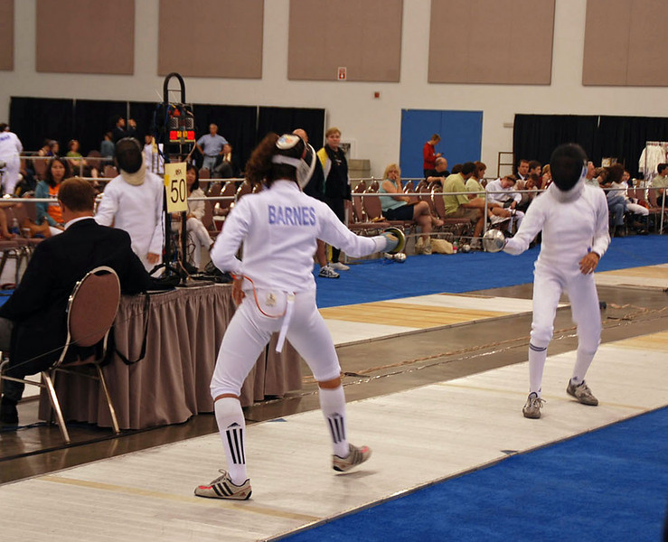 Ella Barnes in the Youth-14 Women's Epee.