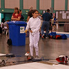 Elizabeth Wiggins in the Youth-12 Women's Epee.