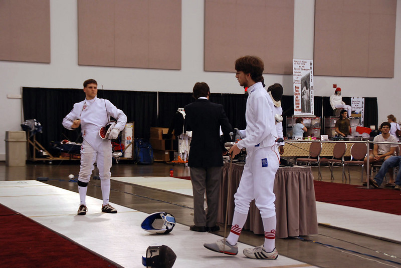Ben Cohen, right, in the Junior Men's Epee.