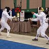 Bettie Graham, right, in the Veteran-60 Women's Epee.