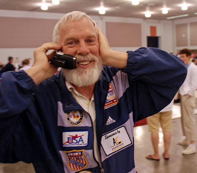 Fencing Master Bill Reith from Alcazar Fencing Club, Cleveland.
