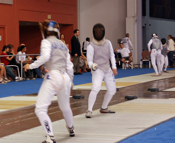 Lena Abraham in the Division II Women's Foil.
