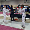 Ben Cohen, right, in Junior Men's Epee.