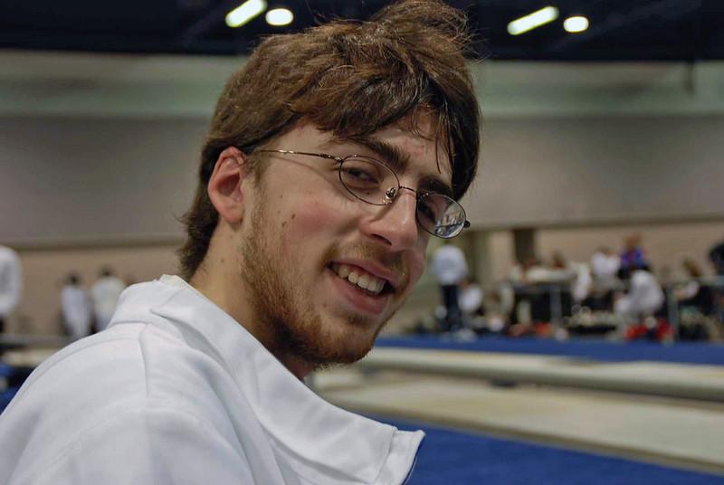 Ben Cohen fenced in the Junior Men's Epee.