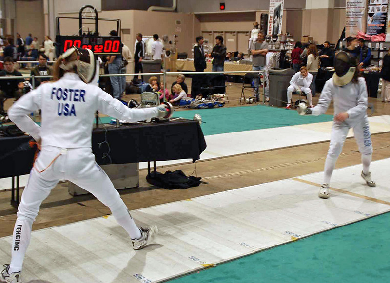 Channing Foster (left) vs. Helen Foster.