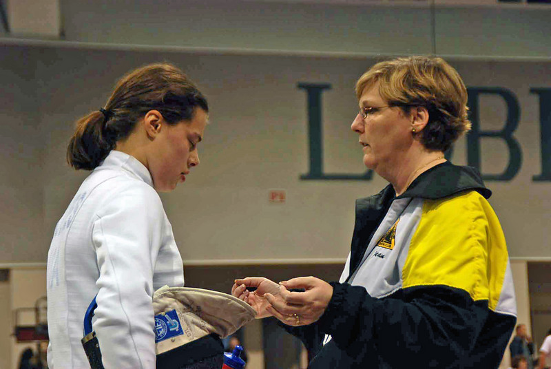 1-minute break in the gold medal bout of the Junior Women's Epee.