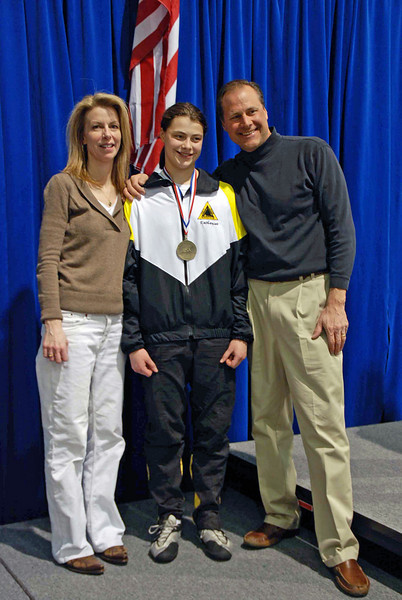 Katharine Holmes with her parents Lorrie Marcil and Chris Holmes.