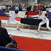 Channing Foster (right) in the Cadet Women's Epee.
