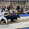 Nina Moiseiwitsch (left) in the Cadet Women's Epee.