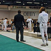 Ella Barnes in the Junior Women's Epee.