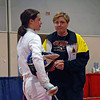 Coaching during the 1-minute break in Cadet Women's Epee.