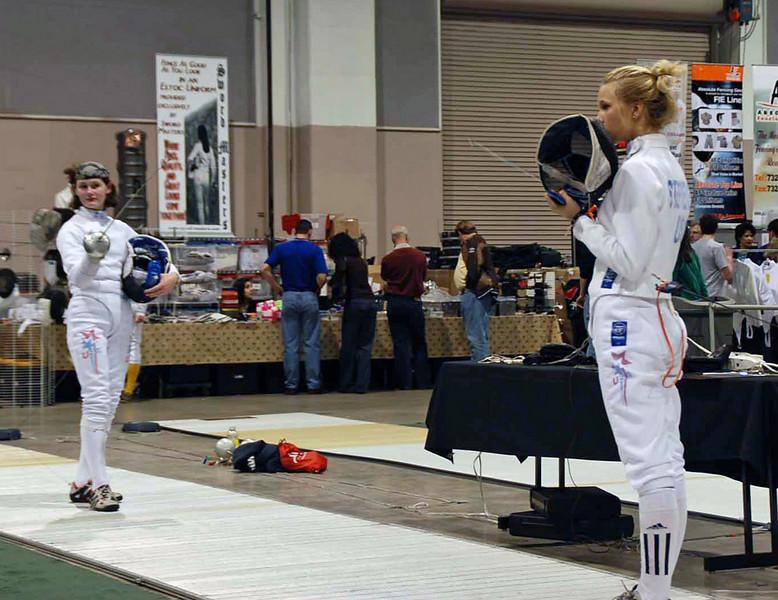 Annie Stephenson (right) vs. Juleah Nusz.