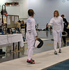 Nina Moiseiwitsch, Division III Women's Epee, gold medal bout with Courtney Dumas.